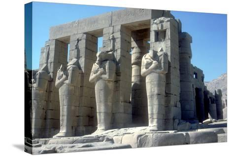 Colossal Statues of Rameses Ii, the Ramesseum, Temple of Rameses Ii, Luxor, Egypt, C1300 Bc-CM Dixon-Stretched Canvas Print