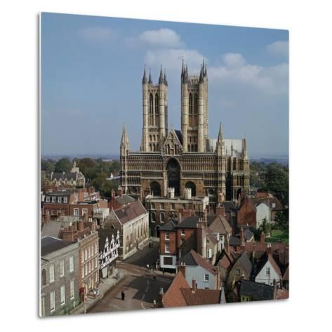 Lincoln Cathedral from the West-CM Dixon-Metal Print