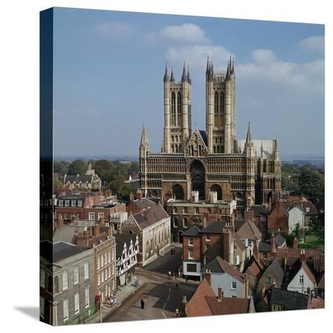 Lincoln Cathedral from the West-CM Dixon-Stretched Canvas Print
