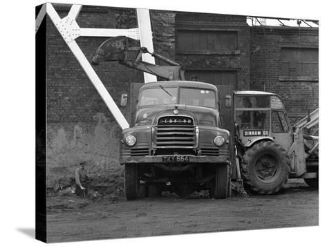 A Bedford 7 Ton Tipper Being Loaded at Rossington Colliery, Near Doncaster, 1963-Michael Walters-Stretched Canvas Print