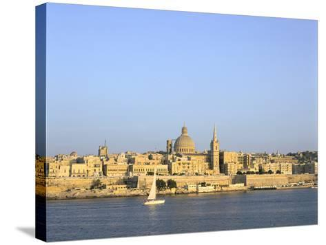 Valletta, Viewed from Sliema, Malta-Peter Thompson-Stretched Canvas Print