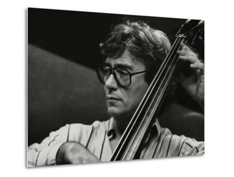 Terry Davies Playing Double Bass at the Fairway, Welwyn Garden City, Hertfordshire, 16 June 1991-Denis Williams-Metal Print
