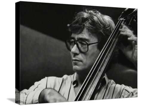 Terry Davies Playing Double Bass at the Fairway, Welwyn Garden City, Hertfordshire, 16 June 1991-Denis Williams-Stretched Canvas Print