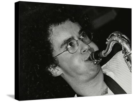 Saxophonist Julian Arguelles Playing at the Fairway, Welwyn Garden City, Hertfordshire, 26 May 1991-Denis Williams-Stretched Canvas Print
