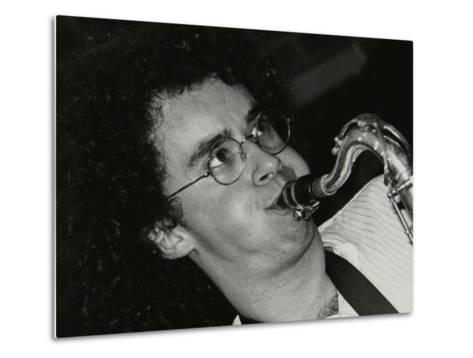 Saxophonist Julian Arguelles Playing at the Fairway, Welwyn Garden City, Hertfordshire, 26 May 1991-Denis Williams-Metal Print