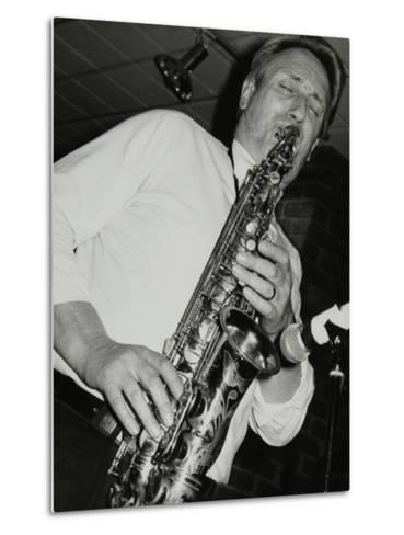 Saxophonist Peter King Playing at the Fairway, Welwyn Garden City, Hertfordshire, 14 April 1991-Denis Williams-Metal Print