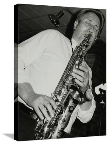 Saxophonist Peter King Playing at the Fairway, Welwyn Garden City, Hertfordshire, 14 April 1991-Denis Williams-Stretched Canvas Print