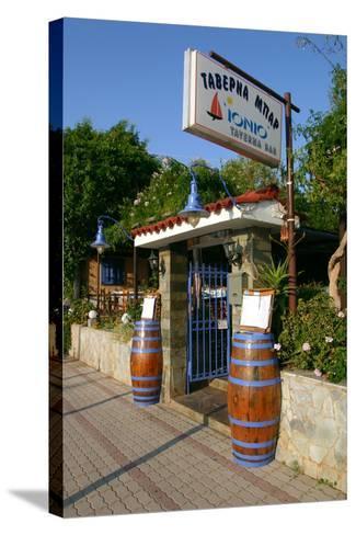 Taverna Lassi, Kefalonia, Greece-Peter Thompson-Stretched Canvas Print