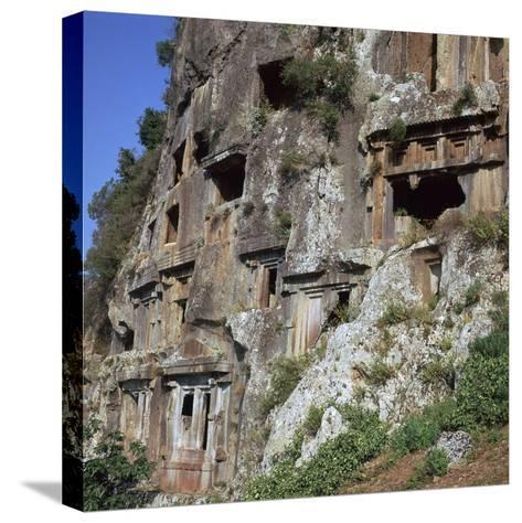 Rock-Cut Tombs in Telmessos Lykian, 4th Century Bc-CM Dixon-Stretched Canvas Print