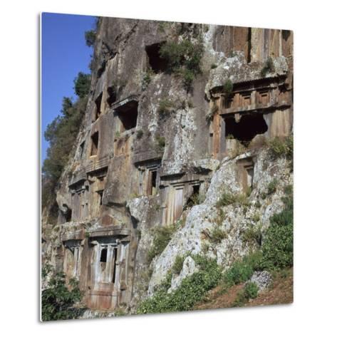 Rock-Cut Tombs in Telmessos Lykian, 4th Century Bc-CM Dixon-Metal Print