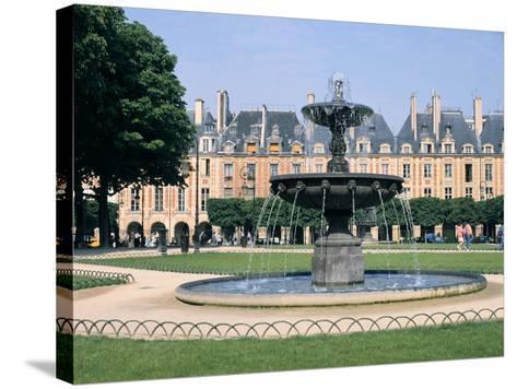 Place Des Vosges, Paris, France-Peter Thompson-Stretched Canvas Print