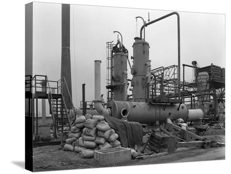 Sulphur Recovery Plant under Construction at the Coleshill Gas Works, Warwickshire, 1962-Michael Walters-Stretched Canvas Print