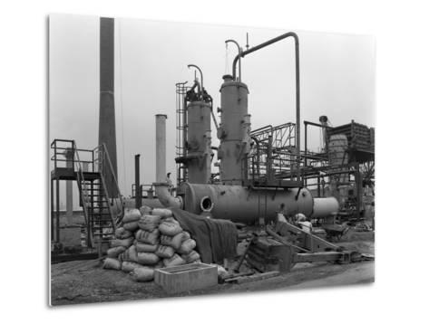 Sulphur Recovery Plant under Construction at the Coleshill Gas Works, Warwickshire, 1962-Michael Walters-Metal Print