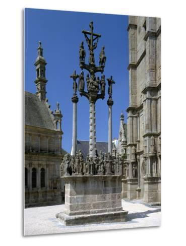 Calvary, St Thegonnec, Brittany, France-Peter Thompson-Metal Print