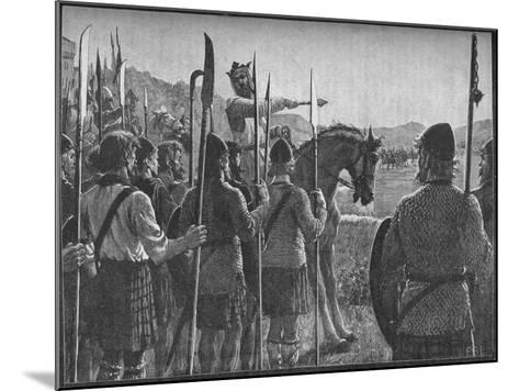 Robert the Bruce Reviewing His Troops before the Battle of Bannockburn, 1314-EBL-Mounted Giclee Print