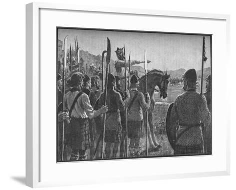 Robert the Bruce Reviewing His Troops before the Battle of Bannockburn, 1314-EBL-Framed Art Print