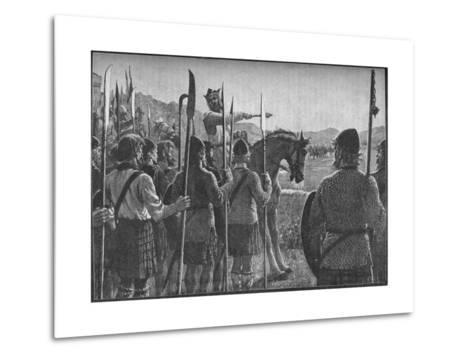 Robert the Bruce Reviewing His Troops before the Battle of Bannockburn, 1314-EBL-Metal Print