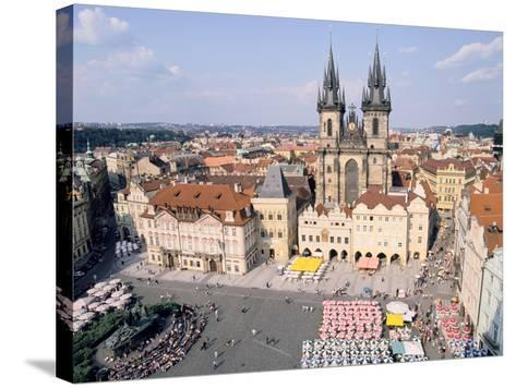 Old Town Square and Tyn Church, Prague, Czech Rebublic-Peter Thompson-Stretched Canvas Print