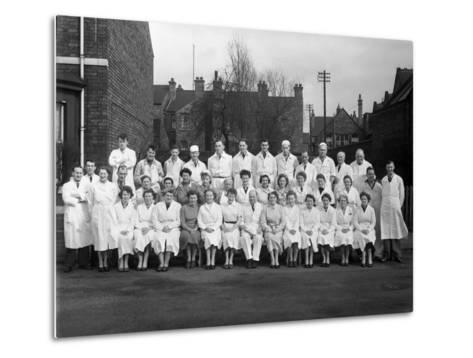 Staff from Schonhuts Butchery Factory, Rawmarsh, South Yorkshire, 1955-Michael Walters-Metal Print