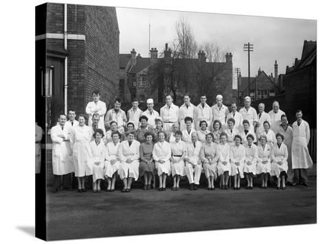 Staff from Schonhuts Butchery Factory, Rawmarsh, South Yorkshire, 1955-Michael Walters-Stretched Canvas Print