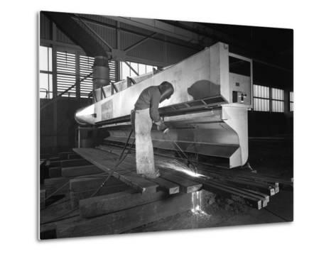 Steelworker at Park Gate Iron and Steel Co, Rotherham, South Yorkshire, April 1964-Michael Walters-Metal Print
