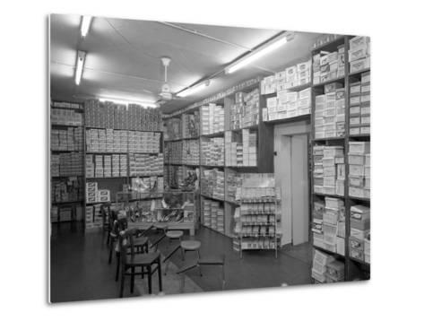 Sports Shop Interior, Sheffield, South Yorkshire, 1961-Michael Walters-Metal Print