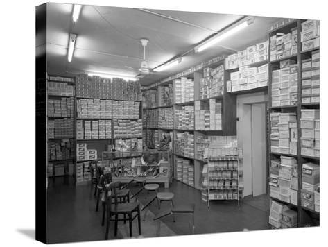 Sports Shop Interior, Sheffield, South Yorkshire, 1961-Michael Walters-Stretched Canvas Print