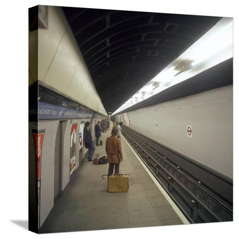 Blackhorse Road Tube Station on the Victoria Line, London, 1974-Michael Walters-Stretched Canvas Print