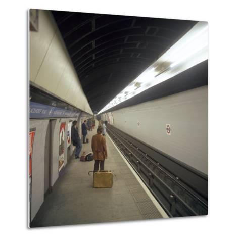 Blackhorse Road Tube Station on the Victoria Line, London, 1974-Michael Walters-Metal Print