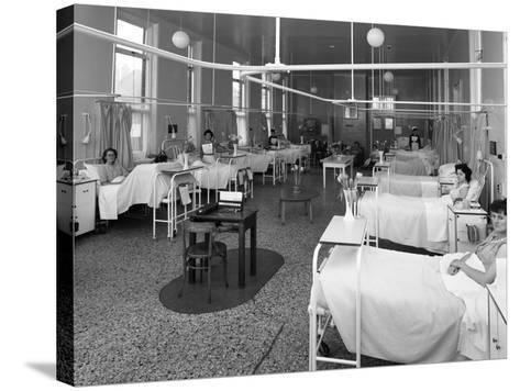 Patients on a Womens Surgical Ward, Montague Hospital, Mexborough, South Yorkshire, 1968-Michael Walters-Stretched Canvas Print