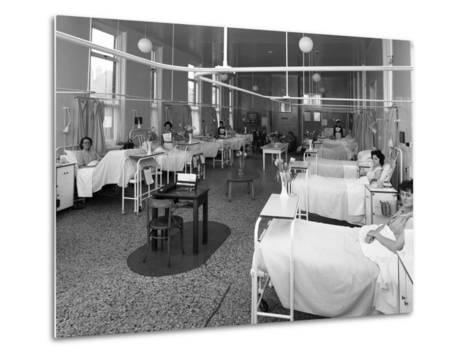 Patients on a Womens Surgical Ward, Montague Hospital, Mexborough, South Yorkshire, 1968-Michael Walters-Metal Print