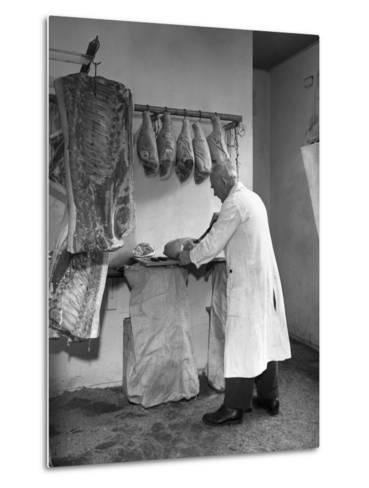 Dressing Meat for Sale, Rawmarsh, South Yorkshire, 1955-Michael Walters-Metal Print