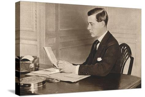Edward Viii Working in His Office at St. Jamess Palace, London, 1936--Stretched Canvas Print