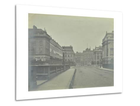 Empty Streets at Lancaster Place, Seen from Waterloo Bridge, London, 1896--Metal Print
