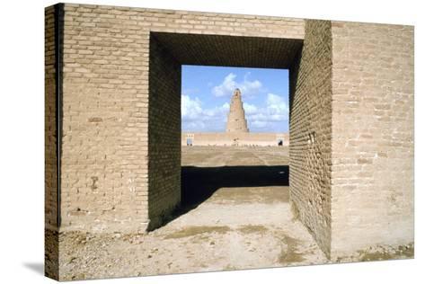 Minaret from Within the Friday Mosque, Samarra, Iraq, 1977-Vivienne Sharp-Stretched Canvas Print