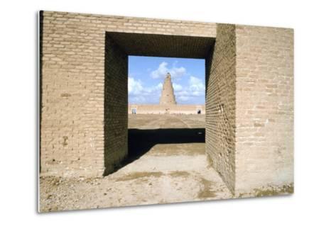 Minaret from Within the Friday Mosque, Samarra, Iraq, 1977-Vivienne Sharp-Metal Print