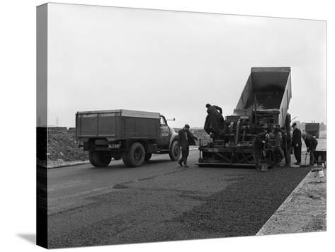 A Bedford A3S Tipper on the Site of Manvers Coal Prep Plant, South Yorkshire, 1955-Michael Walters-Stretched Canvas Print