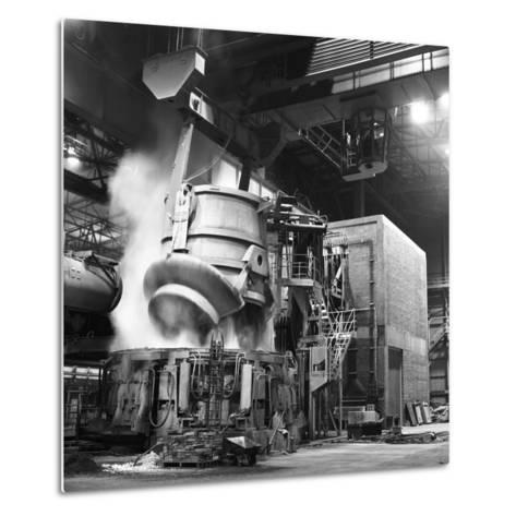 Charging a Furnace, Park Gate Iron and Steel Co, Rotherham, South Yorkshire, 1964-Michael Walters-Metal Print