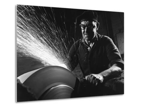 Grinding (Sharpening), Everlast Garden Tools, Sheffield, South Yorkshire, 1965-Michael Walters-Metal Print