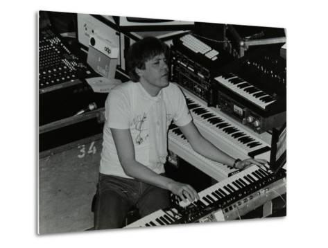 German Electronic Musician Klaus Schulze at the Forum Theatre, Hatfield, Hertfordshire, 1983-Denis Williams-Metal Print
