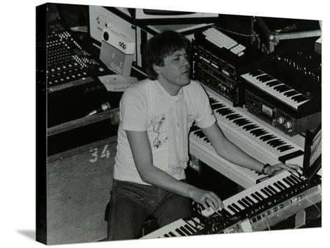 German Electronic Musician Klaus Schulze at the Forum Theatre, Hatfield, Hertfordshire, 1983-Denis Williams-Stretched Canvas Print