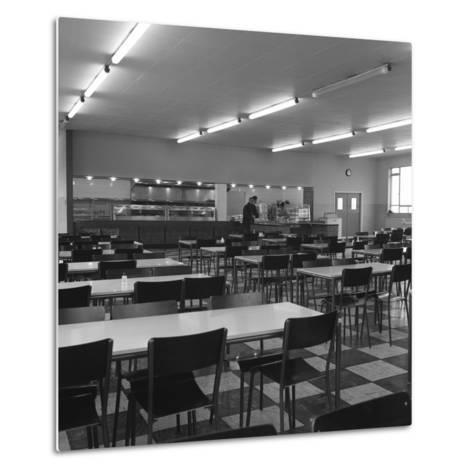 View of the Canteen at the Park Gate Iron and Steel Co, Rotherham, 1964-Michael Walters-Metal Print