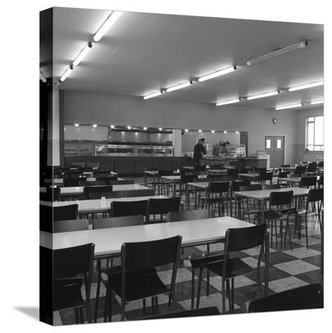 View of the Canteen at the Park Gate Iron and Steel Co, Rotherham, 1964-Michael Walters-Stretched Canvas Print