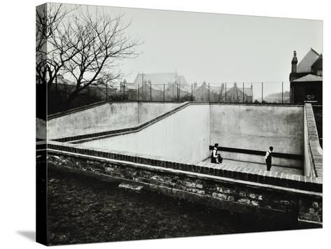 Boys Playing in a Fives Court, Strand School, London, 1914--Stretched Canvas Print