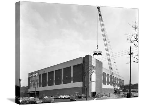 Lifting Heat Exchangers into Place, Silver Blades Ice Rink, Sheffield, South Yorkshire, 1966-Michael Walters-Stretched Canvas Print