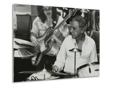 Buddy Rich and Dave Carpenter Playing at the Royal Festival Hall, London, June 1985-Denis Williams-Metal Print