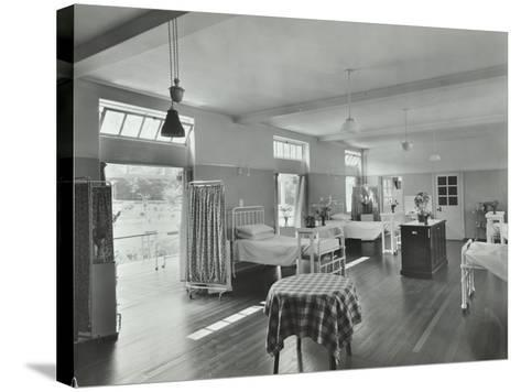 A Ward at Orchard House, Claybury Hospital, Woodford Bridge, London, 1937--Stretched Canvas Print
