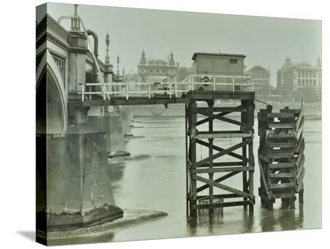 Emergency Water Supply Pump Platform, Westminster Bridge, London, Wwii, 1944--Stretched Canvas Print