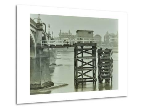 Emergency Water Supply Pump Platform, Westminster Bridge, London, Wwii, 1944--Metal Print