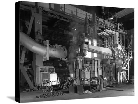 Charging an Electric Arc Furnace, Park Gate Iron and Steel Co, Rotherham, South Yorkshire, 1964-Michael Walters-Stretched Canvas Print
